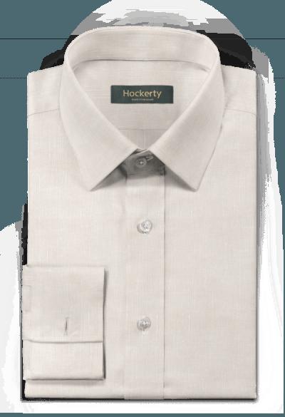 Beige french cuff linen Shirt