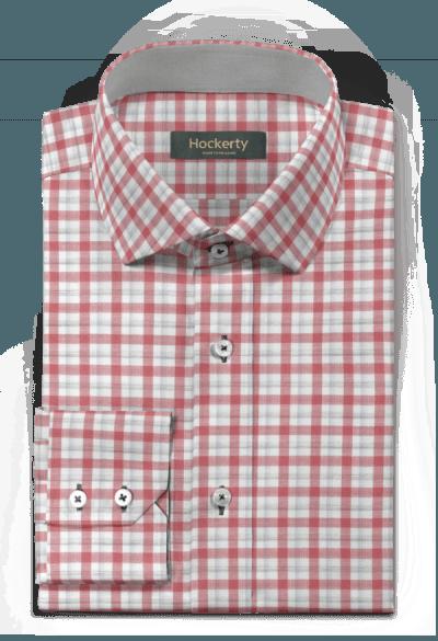 Rotes kariertes Hemd aus Baumwolle