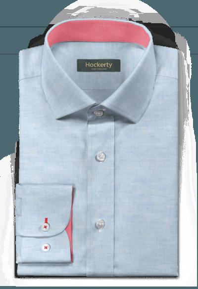 Blaues Hemd aus Leinen