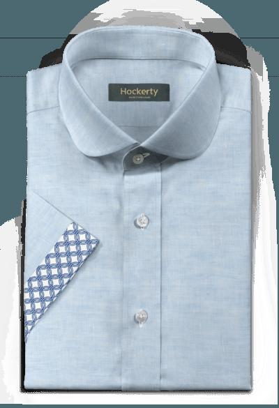 Kurzärmliges Hemd aus Leinen