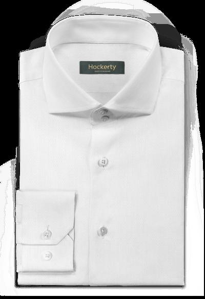 Camicia bianca micropattern