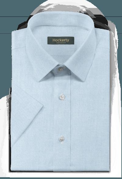 Chemise bleue manches courtes oxford