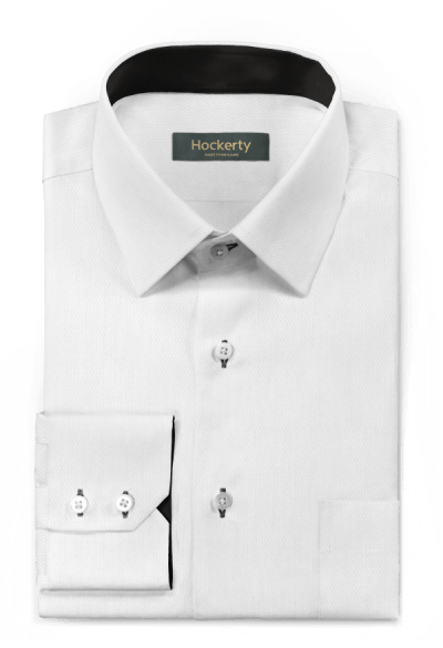 Chemise blanche micropattern