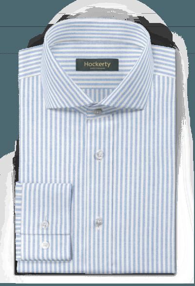 Chemise bleue oxford à rayures