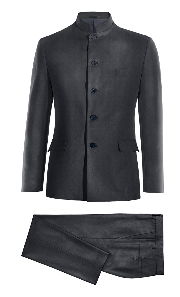 Blue Mao polyester Suit