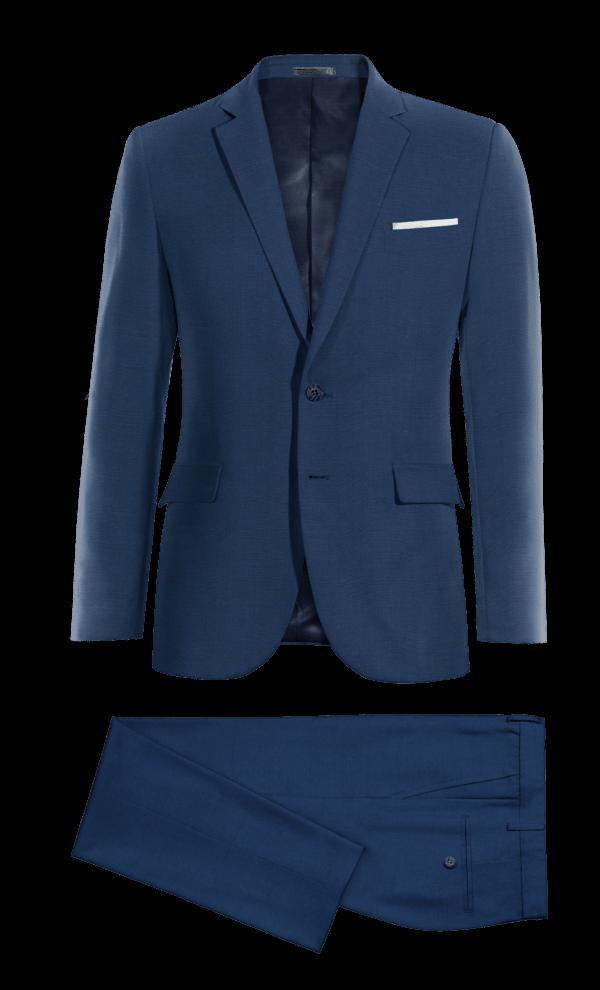 Costume bleu en Laine