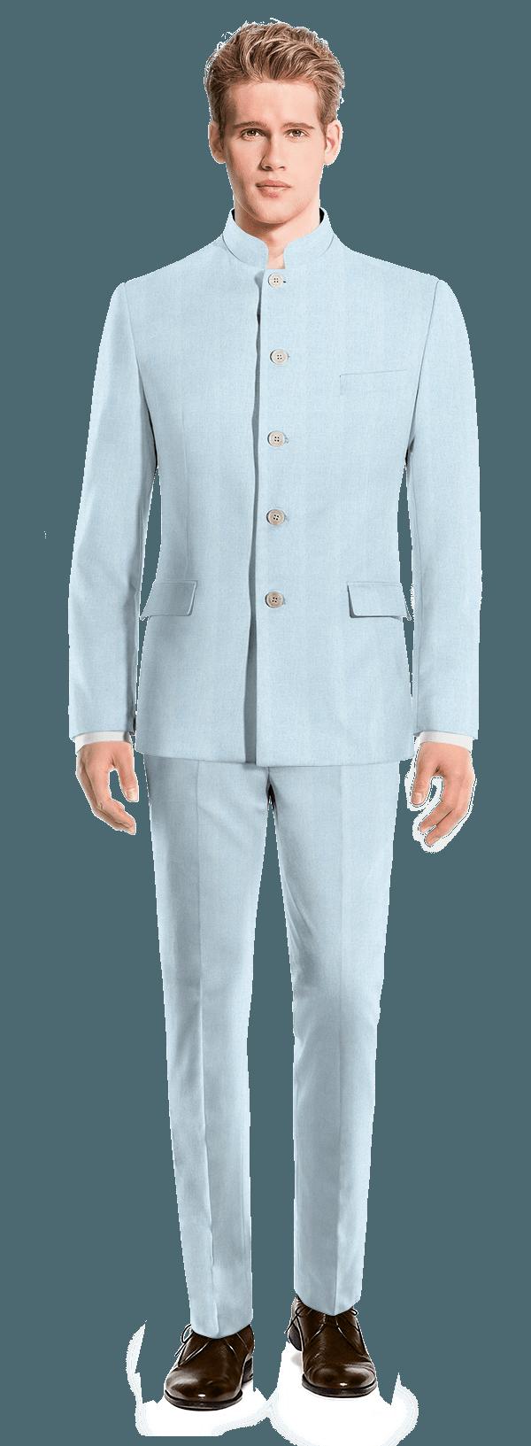 Costume bleu Mao en Lin