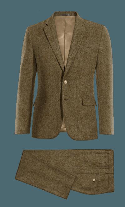 Traje Hombre marron tweed