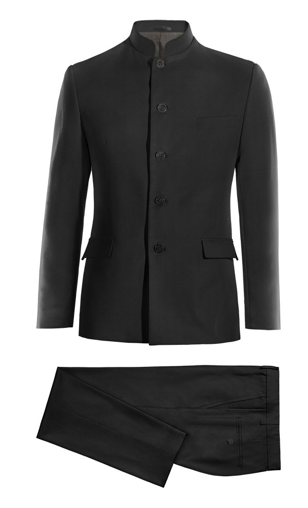 Black Mao wool Suit