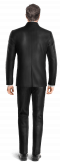 Costume noir Mao en Velours côtelé-Vue Dos