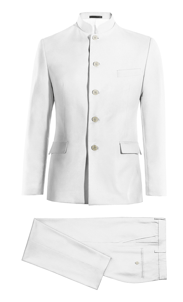 Costume blanc Mao en Lin