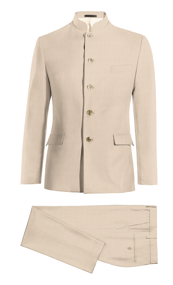 Beige Mao wool Suit