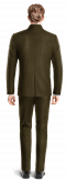 Costume marron Mao en Velours côtelé-Vue Dos
