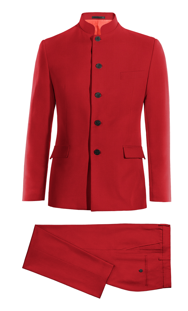 Costume rouge Mao en Laine
