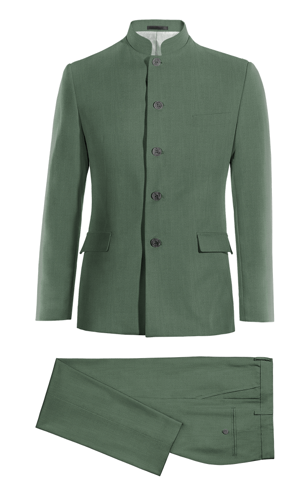 Green Mao wool Suit