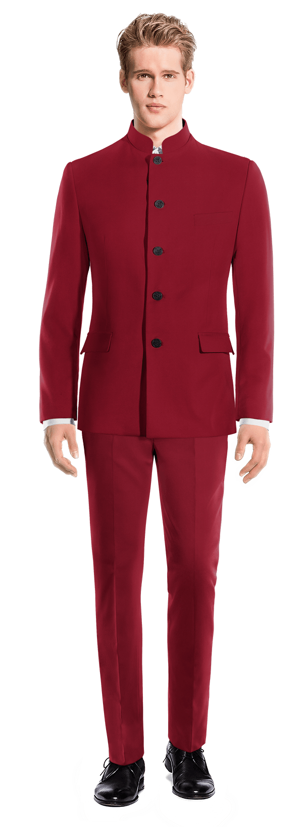Costume rouge Mao en Laine