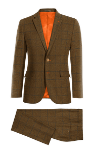 ... Traje marron a cuadros de tweed-without model ... d23dae718ba