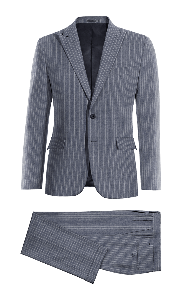 Blue striped linen Suit