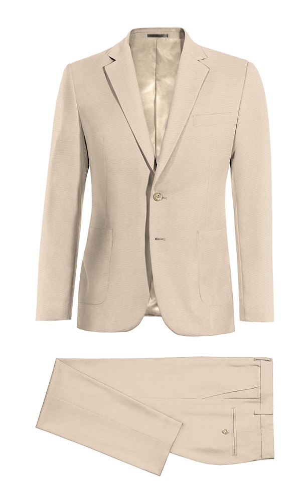 Beige wool Suit
