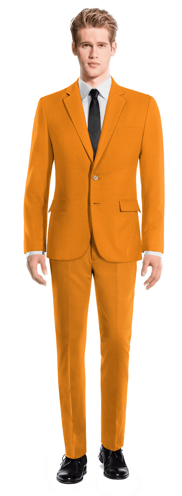 Orange cotton Suit