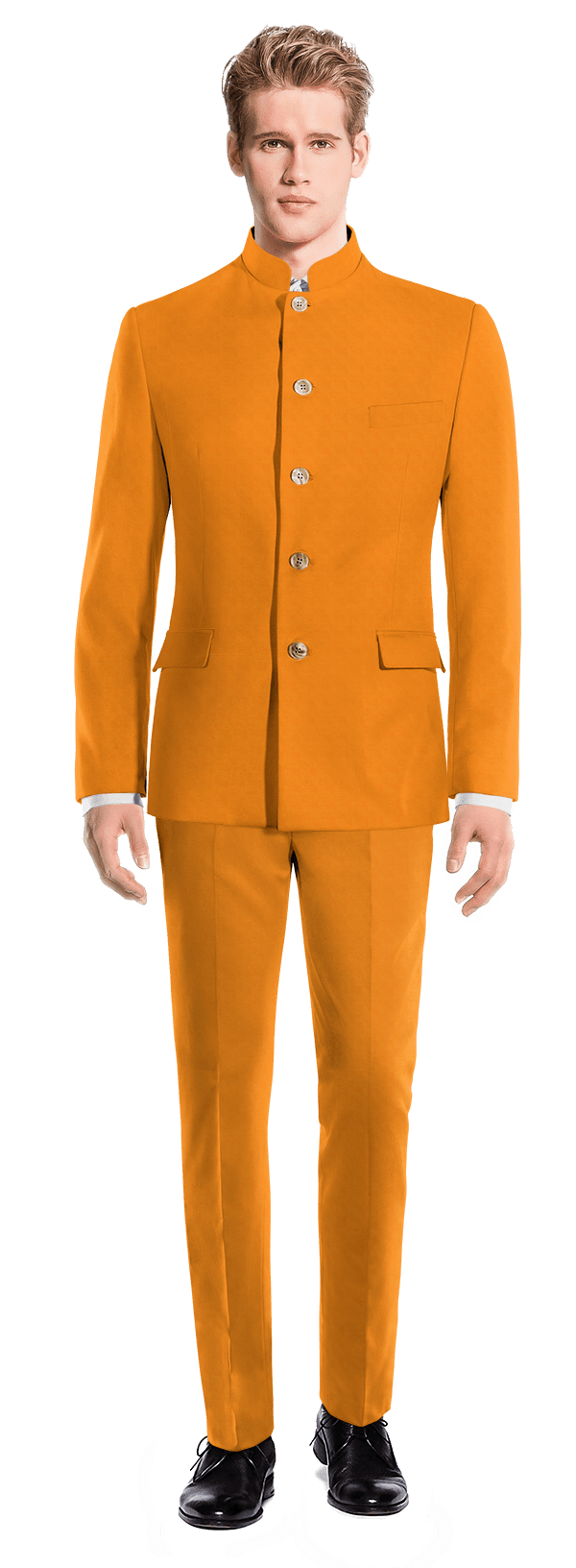 Orange Mao cotton Suit