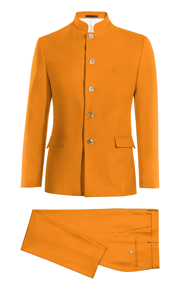 Costume orange Mao en Coton