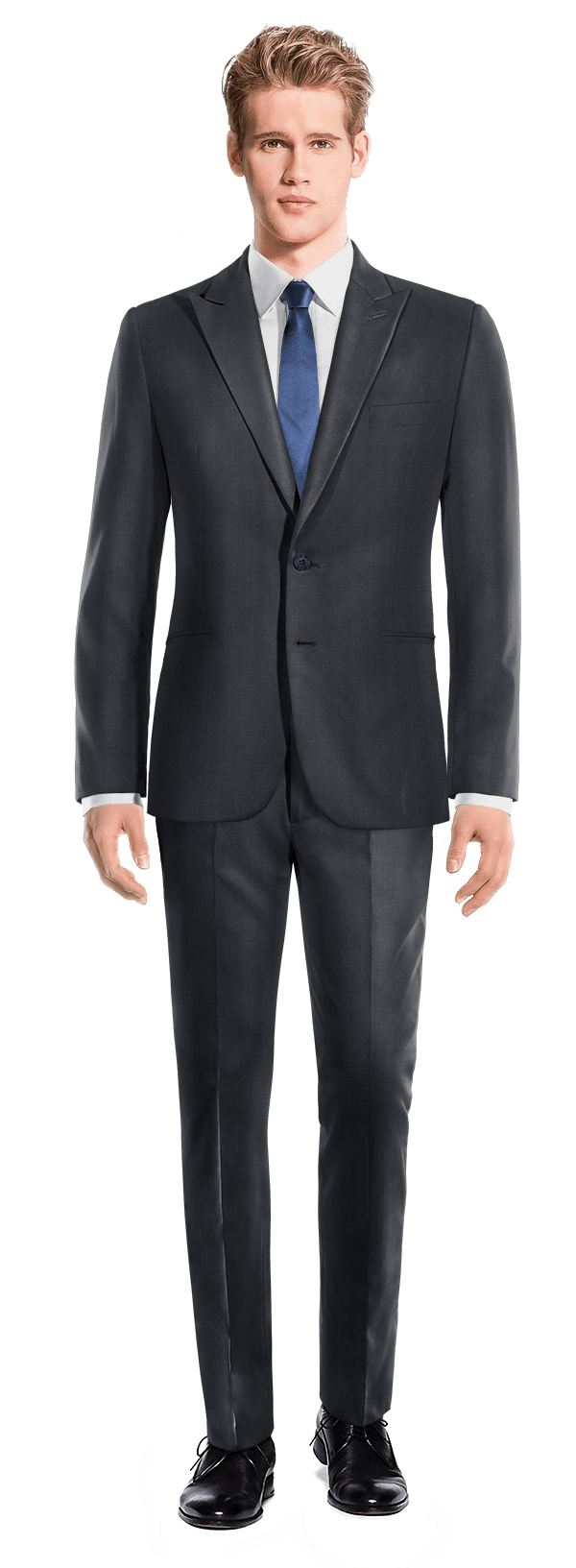 Blue polyester Suit