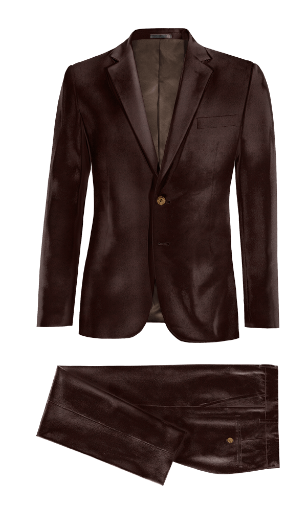 Brown velvet Suit