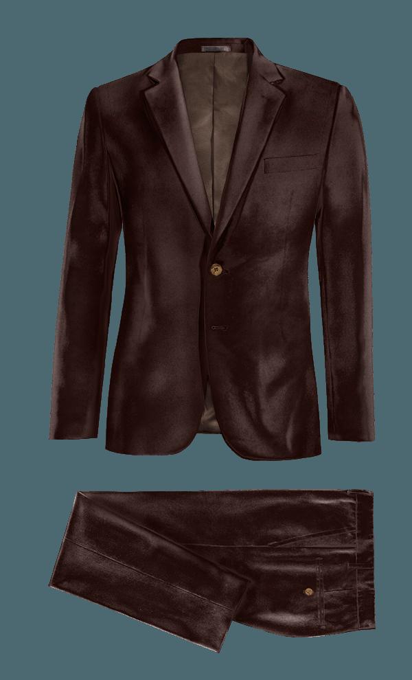 Costume marron en Velours
