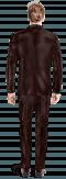 Brown velvet Suit-View Back