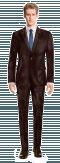Brown velvet Suit-View Front