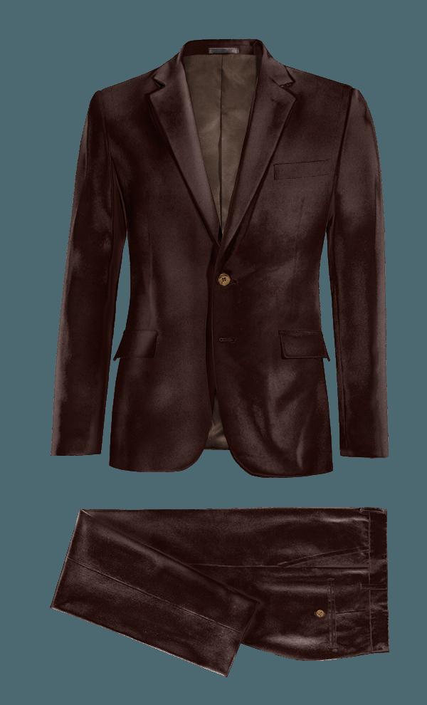 Brown velvet Suit