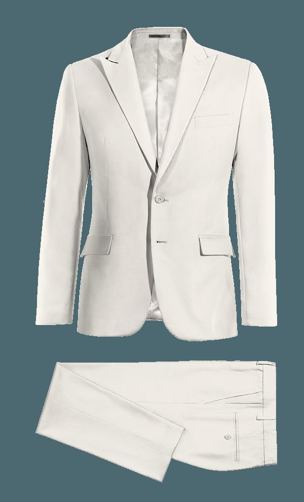 Costume blanc en Laine