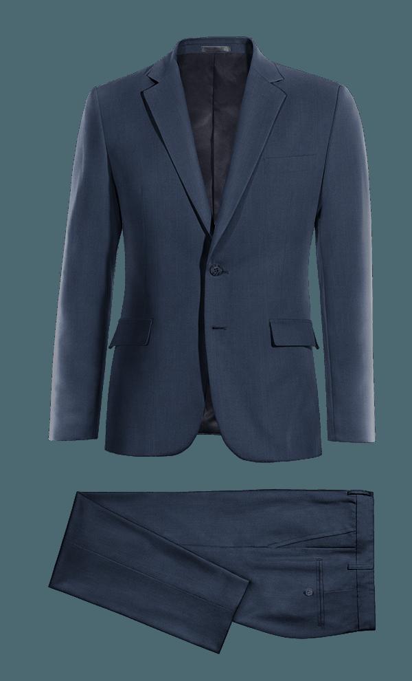 Blue 100% Wool Suit