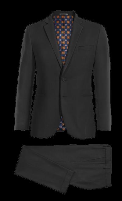 e8b263c4860 Black cotton Suit