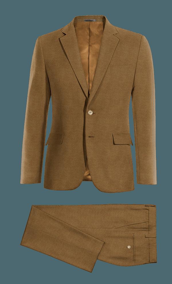 Costume marron en Coton