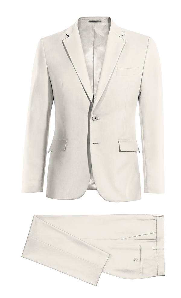 White wool Suit