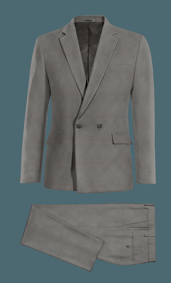Costume gris croisé en Lin