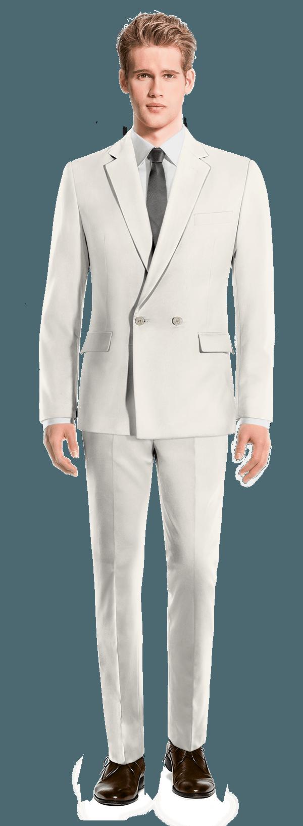 белый шерстяной Костюм
