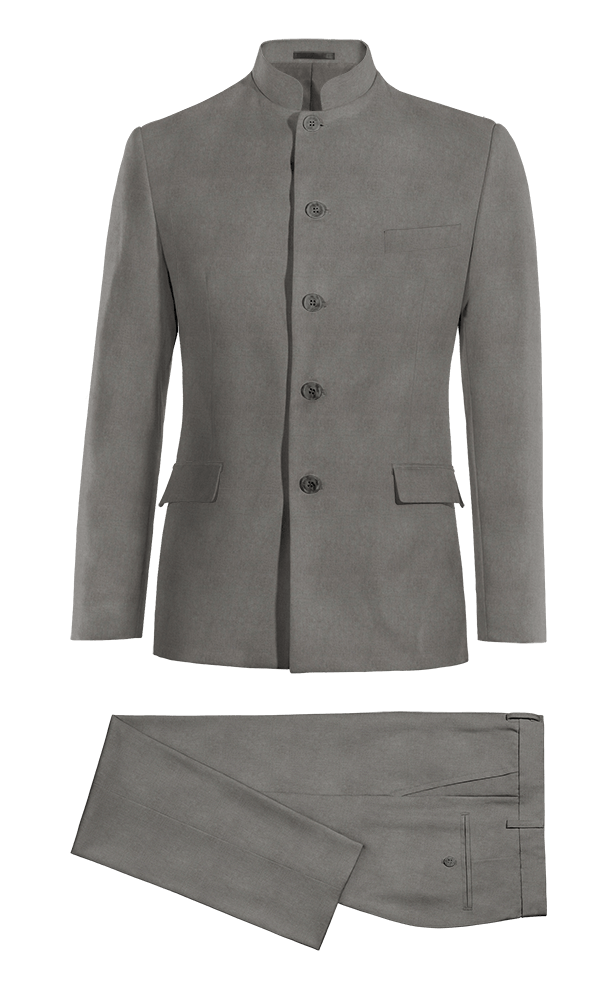 Grey Mao linen Suit