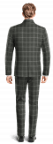 Grey Mao checked 100% Wool Suit-View Back