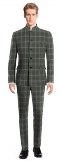 Grey Mao checked 100% Wool Suit-View Front