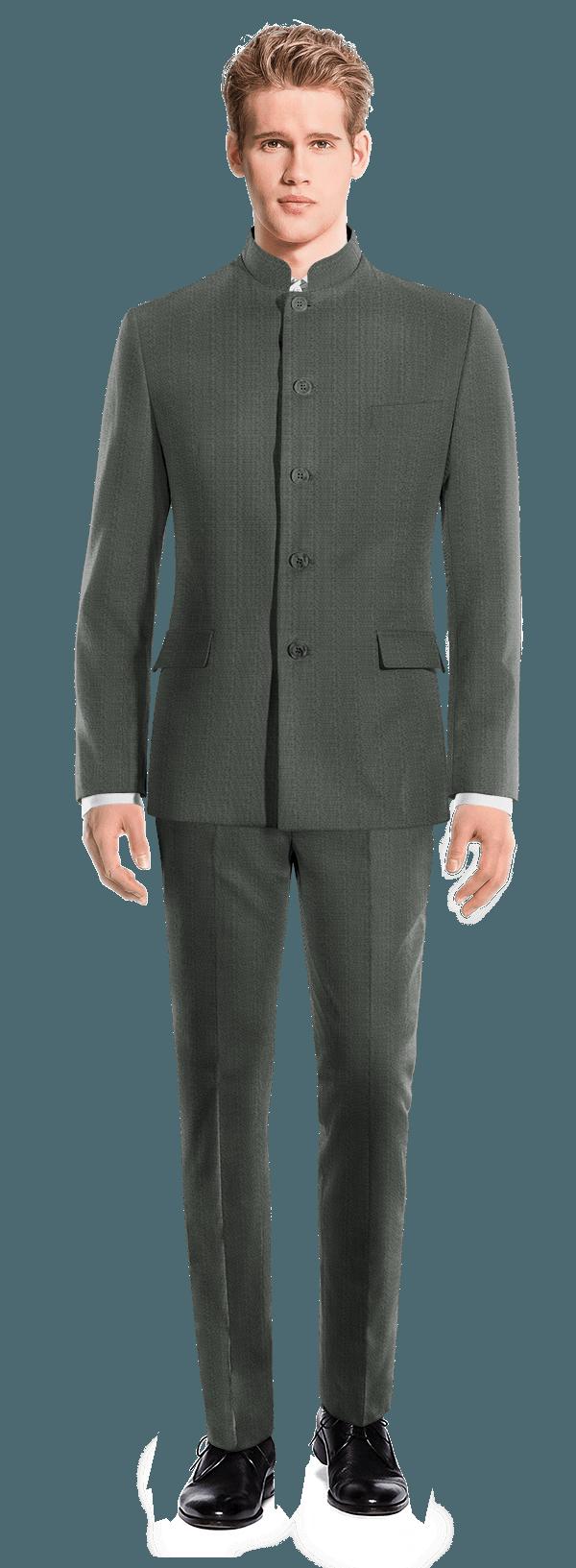 Abito Mao grigio 100% lana