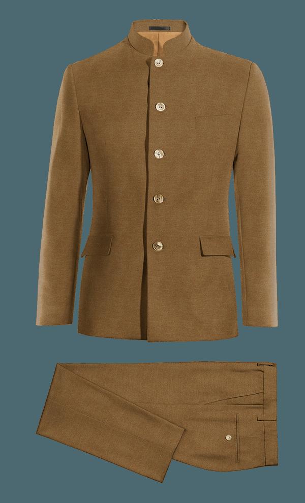 Costume marron Mao en Coton