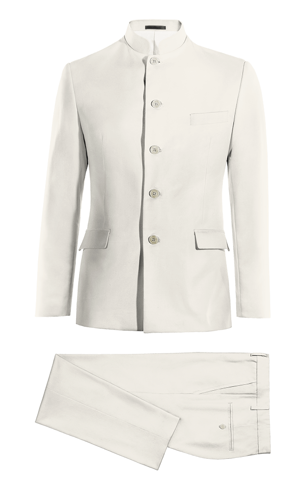 White Mao wool Suit
