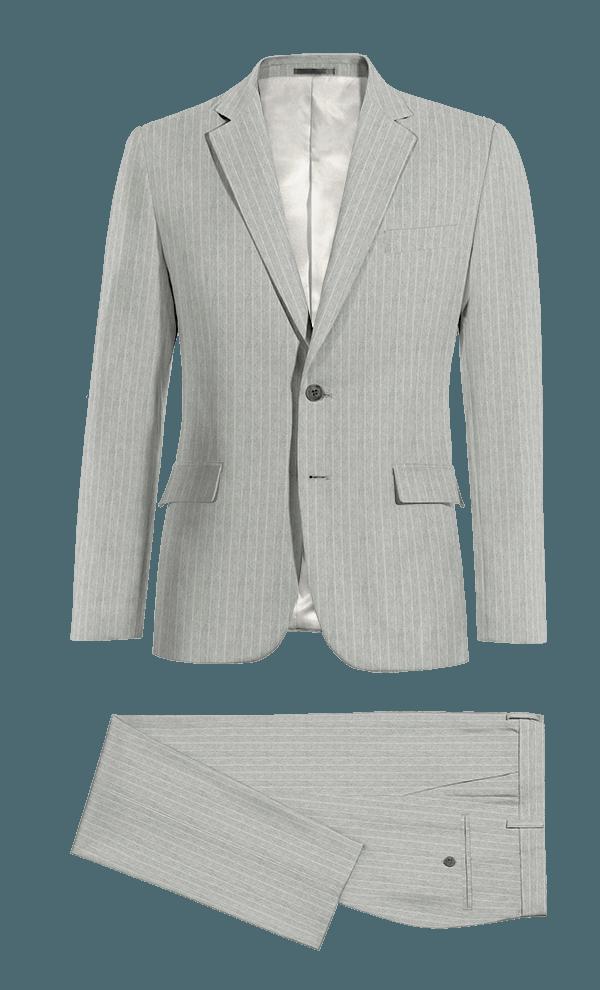 Grey striped linen Suit