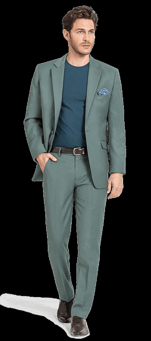 Green wool Suit