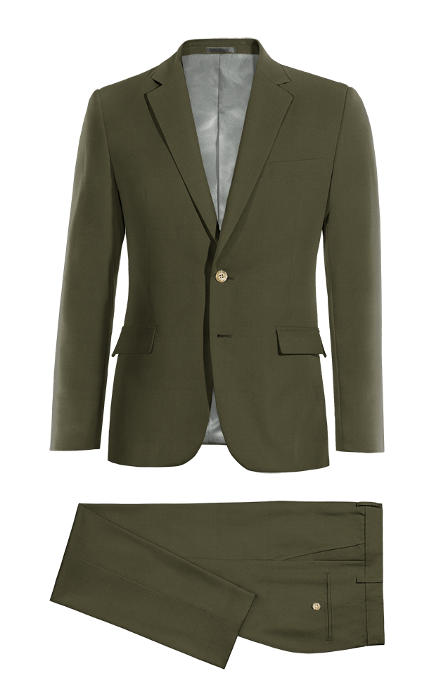 Green cotton Suit