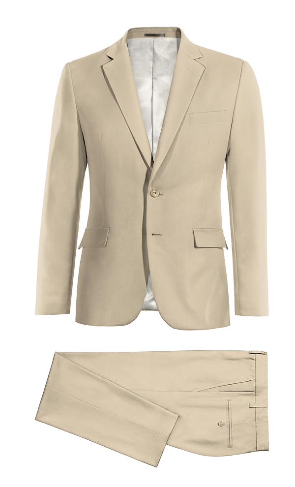 Beige cotton Suit