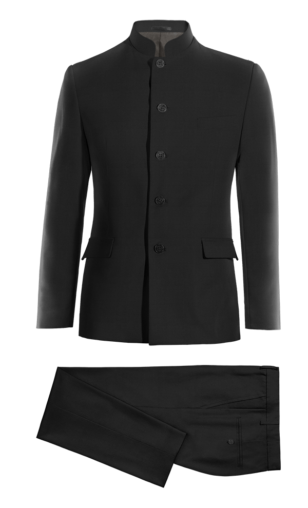 Black Mao cotton Suit
